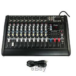 2000w 10 Amp Professional Channel Mixage Amplifiée Puissance Amplificateur Mélangeur 16dsp 48v