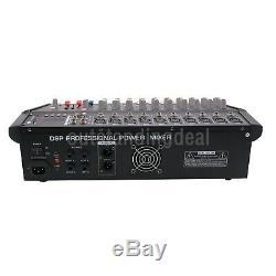 2000watts 10 Mélangeur Professionnel Alimenté La Puissance Du Mixage Amplificateur Amp Os12