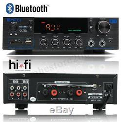 220v-240v 2000w 2 Canaux Pro Bluetooth Amplificateur De Puissance Amp Audio Stéréo
