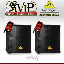 2x Behringer B1200d-pro Subwoofer Actif Amplifié 500w + Câbles (nouveau)