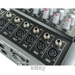 4 Canaux Professionnel De Mixage Amplifiée Puissance Amplificateur Mélangeur Amp 16dsp Us