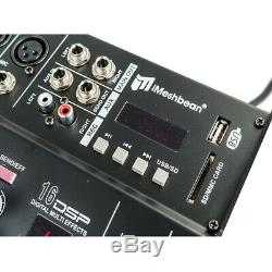 4 Canaux Professionnel Puissance Powered Mixer Mixage Amplificateur Amp 16dsp