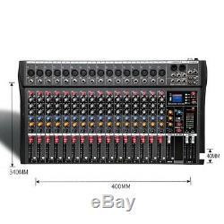 4000 Watts 16 Canaux Alimentation Alimenté Professional Mixer Amp Amplificateur Mixage