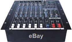 4000 Watts 6 Amplificateur Mélangeur Amplifié Professionnel Sk-6 De Puissance De Mélangeur Actionné Par Canal Professionnel