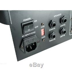 6 Canaux Powered Professional Power Mixer Mixage Amplificateur 16dsp Usb