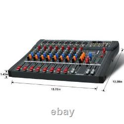 8/12/16 Amplificateur De Mixeur Audio De Channel Professional Live Studio Us