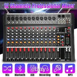 8 Amplificateur De Mélangeur Professionnel 12 Canaux Amplificateur Usb Bluetooth