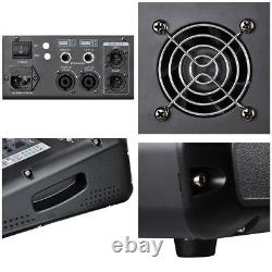 8 Channel Professional Usb Power Mixer Amp Amp Amplificateur 16dsp LCD Recording Studio