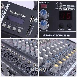 8 Professional Channel Power Mixer Powered Mélange Amplificateur Withusb Emplacement Amp 16dsp