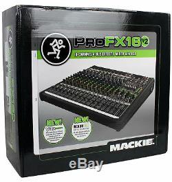 Ampli D'ampli Crown Pro Xti6002 6000w, Avec Mélangeur Dsp + Mackie Profx 16 Canaux