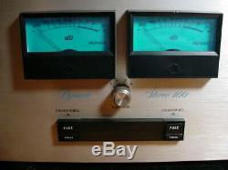 Ampli De Puissance Dynaco St400 Bleu Mètres 200 Watts Channel Sound Sound Work Cheval Des Années 1970