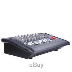 Ampli Dj De Mixage Audio Puissant Alimenté Par 8 Canaux Avec Amplificateur Dj Et Port Usb 110v