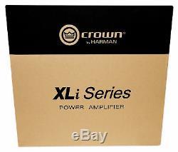 Ampli Professionnel XLI 800 Pour Ampli De Puissance Crown Pro Xli800 600w 2 Canaux Dj / Pa