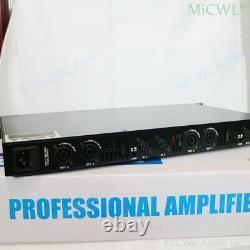 Amplificateur D'alimentation Numérique Pro 6400w 4 Way Drive 800w Haut-parleur Chaque Canal Préamps