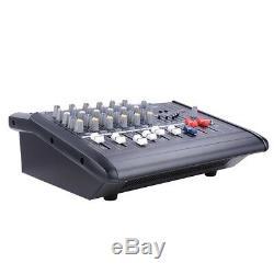 Amplificateur De Mélange Actionné Professionnel De Puissance De Mélangeur De 6 Canaux Withusb Fente Amp 16dsp