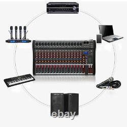 Amplificateur De Mélangeur Audio Bluetooth Professionnel 16 Canaux Live Studio