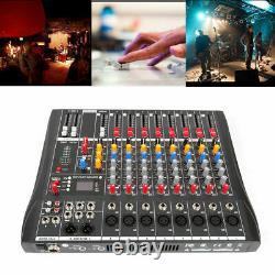 Amplificateur De Mélangeur Audio Bluetooth Professionnel De 8 Canaux Live Studio