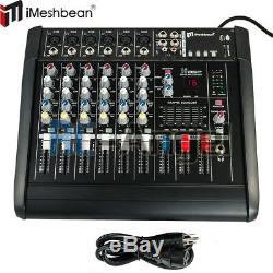 Amplificateur De Mixage De Puissance À 6 Voies Avec Mixeur Professionnel 16dsp Usb