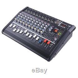 Amplificateur De Mixage Usb Alimenté Professionnel À 10 Canaux Avec Amplificateur 16dsp 48v Phantom Studio
