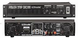 Amplificateur De Puissance Amp Stéréo Professionnel 2 Canaux 3000 Watts Gtd-audio Q3000