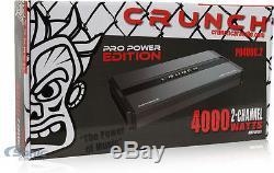 Amplificateur De Puissance Audio Pd4000.2 De Voiture De Voiture Du Canal Ab De La Puissance 2 De 4000 Crm Rms D'entraînement