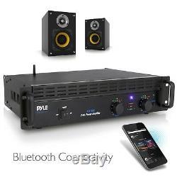 Amplificateur De Puissance Bluetooth Audio Professionnel Pyle, Montage Sur Rack 2 Canaux B