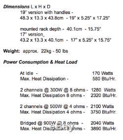 Amplificateur De Puissance Bryston 4b-sst Pro 4bsst / 300w 500w Stéréo / 900w Ponté