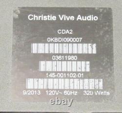 Amplificateur De Puissance Christie Vive Audio Cda2 Classe D Professional 2000w