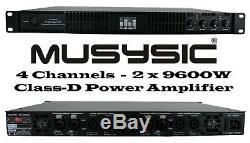 Amplificateur De Puissance Mu-d9600 À 4 Canaux 2x9600 Watts Musysic Professional, Classe D