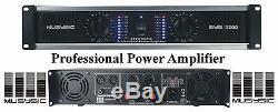Amplificateur De Puissance Professionnel 2 Canaux 3200 Watts Musysic, Montage En Rack 2u Sys-3200