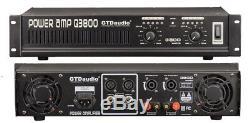 Amplificateur De Puissance Professionnel 2 Canaux 3800 Watts Amp Stereo Q3800