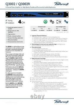 Amplificateur De Puissance Professionnel Powersoft Digam Q3002 4 Canaux (vgc)