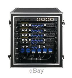 Amplificateur De Puissance Professionnel Série Cvr D-2004 1 Espace 2000 Watts X 4 À 8 Bleu