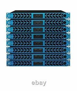Amplificateur De Puissance Professionnel Série Cvr D-2004 1 Espace 2000 Watts X4 À 8 Blue