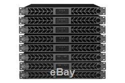 Amplificateur De Puissance Professionnel Série Cvr D-2004 1 Space 2000 Watts X4 À 8 Noir