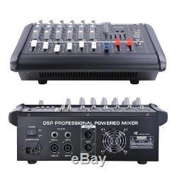 Amplificateur Dj De Mixage Audio Amplifié Alimenté Par Canal Pro 6 Avec Fente Usb