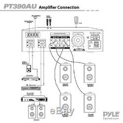 Amplificateur Fm D'amplificateur De Puissance Stéréo Professionnel 4 Canaux Audio À Domicile De Digital 300w Dj