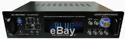 Amplificateur / Pré-amplificateur / Récepteur Hybride Professionnel 4000 Watts Mu-h4000bt