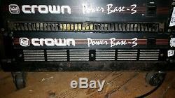 Base De Puissance Crown 3 Stereo Professional Amp Dj Sono