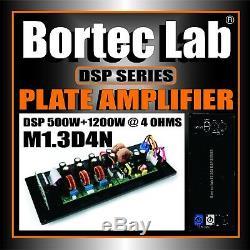 Bortec Lab Dsp 2 Canaux 1200w + 500w Plate Professional Amplifier