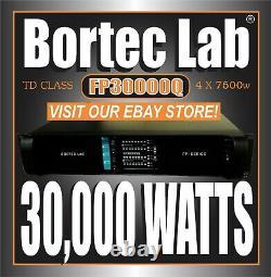 Bortec Lab Fp30000q Td 4-ch. Amplificateur De Puissance Haute Densité De 30 000 Watt Pro Audio