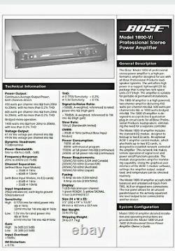 Bose 1800 VI Professional Power Amp Amp, Amp Studio, Dj, 802, 302, 502, 402