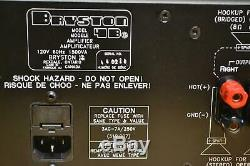 Bryston 4be 2 Canaux Amplificateur Doux Sounding Power Amp 250w Rare Professional