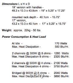 Bryston 4bsst Pro Amplificateur De Puissance Amp 4bsst / 300w 500w Stéréo / 900w Ponté