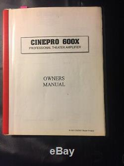 Cinepro 600x Théâtre Professionnel Amplificateur