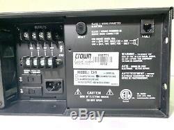 Couronne Ch1 Stéréo 275 Watts Par Canal @ 8 Ohms Amplificateur Audio Professionnel