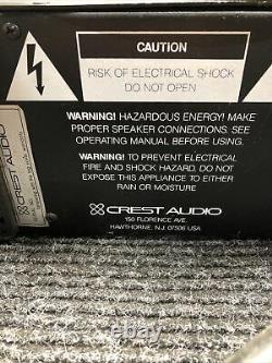 Crest Audio 8001 Professional Power Amplificateur Cut Power Cord Crest Audio 8001 Professional Power Amplificateur Cut Power Cord Crest Audio 8001 Professional Power Ampl