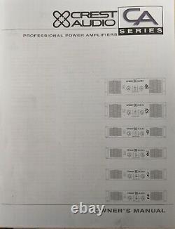 Crest Audio Ca9 Pro Power Amplificateur 3 Disponible