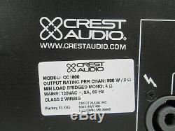 Crest Audio Cc1800 CC 1800 Watt 2 Canaux Pro Amplificateur De Puissance Amp