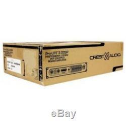 Crest Pro-lite 2.0 Dsp 2000w Amplificateur Montage Sur Rack Léger